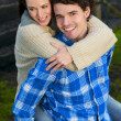 Portrait of a Happy Couple Smiling Outdoors — Stock Photo #18934749
