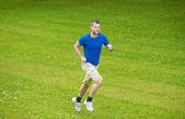 Běžící muž — Stock fotografie