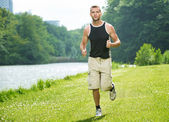 Healthy Man Running — Stock Photo