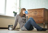 Relaxing While Renovating — Stock Photo