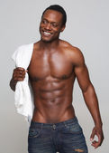 Sexy African American Man Smiling — Stock Photo