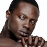 Handsome African American Man Looking Away — Stock Photo