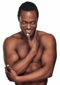 Athletic African American Man Smiling — Stock Photo