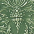 Royalty-Free Stock Photo: Green Ceramic Tile with Floral Pattern