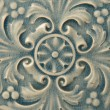 Stock Photo: Blue Ceramic Tile with Floral Pattern