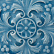 Stock Photo: Old blue Ceramic Tile with Floral Pattern
