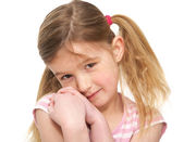 Portrait of a Cute Little Girl — Stock Photo