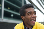 Close up Portrait of a Happy African American Man — Stock Photo