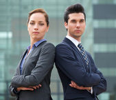 Portrait of a confident young business team — Stockfoto