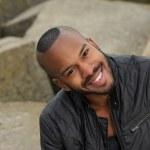 Happy young black man  — Stock Photo #26417169