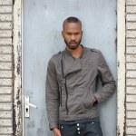 Portrait of a black male model posing — Stock Photo