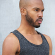 African american male fashion model with modern hairstyle — Stock Photo