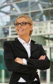 Confident businesswoman with glasses — Stock Photo