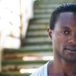 Closeup Portrait eines attraktiven Mannes, Afroamerikaner — Stockfoto
