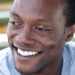 Happy african american man with a beautiful smile — Stock Photo