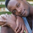 African american man relaxing outdoors — Stock Photo #29457747
