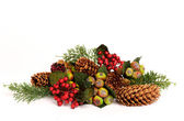 Closeup image of a colorful christmas arrangement — Stock Photo