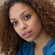 Close up face of a beautiful young woman — Stock Photo #33779621
