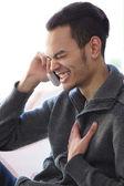 Young man laughing — Zdjęcie stockowe