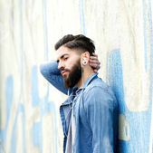 Young man with beard relaxing  — Stock Photo