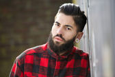 One young man with beard — Stock Photo