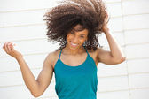 Beautiful african american woman smiling — Stock Photo