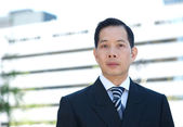 Asian businessman with serious expression — Stock Photo