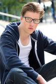 Cool young man with glasses  — Stock Photo