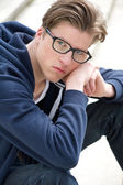 Handsome young man with glasses — Stock Photo