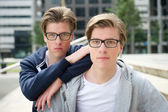 Two young adult brothers  — Stock Photo