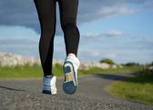 Low angle close up female walking  — Stock Photo