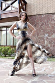 Girl in beautiful dress — Stock Photo