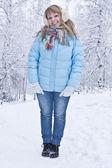 Beautiful winter girl. — Stock Photo