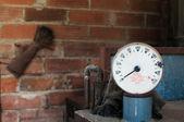 Heating oil tank gauge — Stock Photo