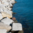 Stock Photo: Detail breakwater