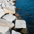 Foto Stock: Detail breakwater