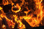 Fire and embers — Stock Photo