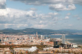 Barcelona from the air — Stock Photo