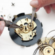 Foto Stock: Clock repair