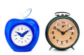 Comparison of alarm clocks — Stock Photo