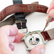 Changing watch strap — 图库照片