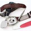 Foto Stock: Changing watch strap