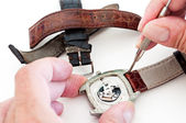 Changing watch strap — Stock Photo