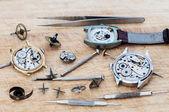 Repair of watches — Stock Photo