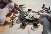 Reparação de relógios — Fotografia Stock
