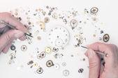 Reparatie van horloges — Stockfoto