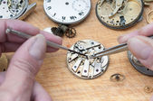 Repair of watches — Stock Photo