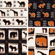 Stock Vector: Set Of AfricThemed Seamless Patterns