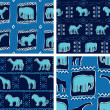 Set Of Africa Themed Seamless Patterns - Stock Vector