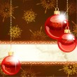 Royalty-Free Stock Vector Image: Elegant Christmas Banner With Transparent Ornaments